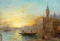 venise, l'entrée du grand canal, place saint marc by daniel cortes