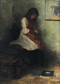 sedící dívka by leon fortunski