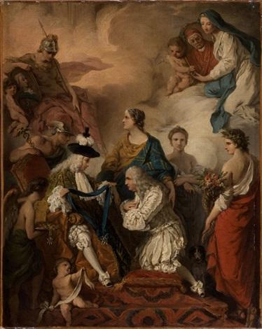 le duc de saint aignan décorant le prince vaini de lordre du saint esprit by pierre hubert subleyras