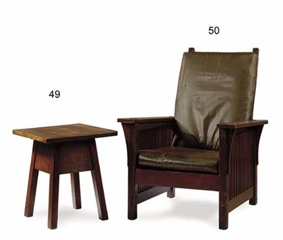 Excellent Reclining Chair By Gustav Stickley On Artnet Machost Co Dining Chair Design Ideas Machostcouk