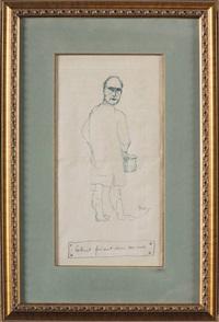 mr. colinet faisant dans son vase by rené magritte