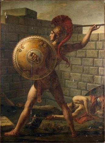 le chef des romains romulus by jacques louis david on artnet