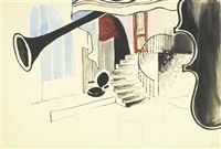 interior with stairs (interiér se schody) by alois wachsman