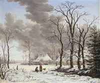 winter in holland by gerrit hendrik gobell