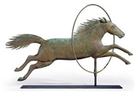 horse through hoop weathervane by a.l. jewell