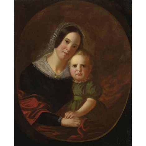 mrs george caleb bingham and son newton by george caleb bingham