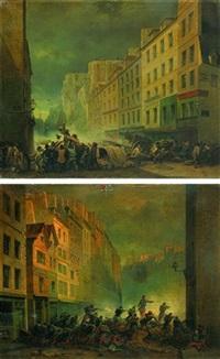 scènes de barricades (+ la mort d'alphonse baudin sur les barricades; pair) by nicholas edward gabe