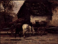 the farmyard by léon barillot