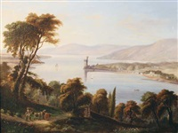 view of blackrock castle, cork by george atkinson