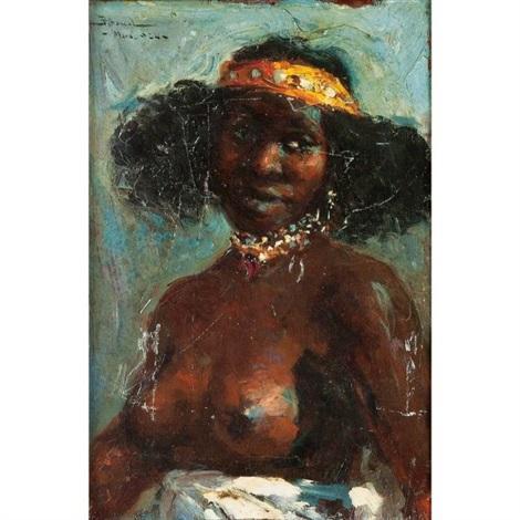 l'offrande (+ femme en buste (study), smllr; 2 works) by carlos abascal