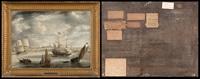 navires hollandais dans la rade d'anvers by bonaventura peeters the elder