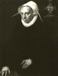 portrait of adriana vrancken paets, aged 64 by isaac claesz van swanenburgh