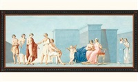 scène antique: mariage de thétis et pelée by franciszek smuglewicz