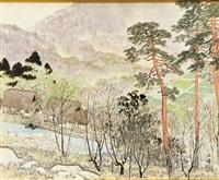 spring landscape by gyokudo kawai