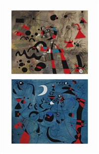 andré breton, constellations, new york, andré breton and pierre matisse, 1959 by joan miró
