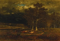 the approaching storm by george inness