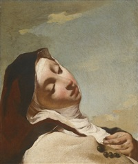 saint theresa in ecstasy by giovanni battista piazzetta