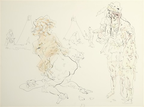 untitled from cowboy and indian series by john altoon