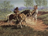 comanche braves breaking a mustang by joe ruiz grandee