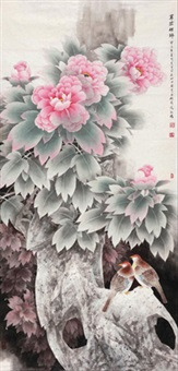 芳菲祥瑞 (birds and flowers) by sima lianyi