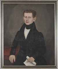 portrait of edward pitkin cowles of north canaan, connecticut by erastus salisbury field