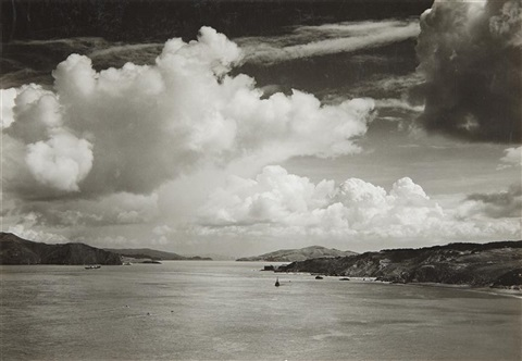 the golden gate before the bridge san francisco california by ansel adams