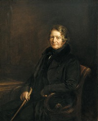 portrait of a gentleman, thought to be sir robert peel by john linnell