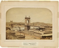 cincinnati & covington suspension bridge. arch-topped by charles waldack