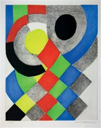composition géométrique by sonia delaunay-terk