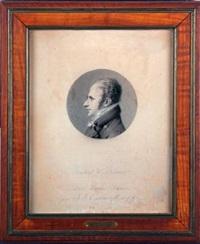 portrait de m. brassier dans un médaillon circulaire by jean jacques karpff