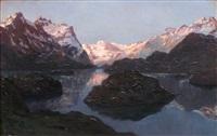 lac en montagne by anna boberg