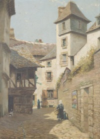 a court, quimper, brittany by mary kate benson