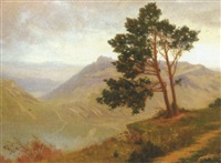 paysage de montagne by lucien pillot