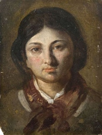 portrait de madame charlet by nicolas toussaint charlet