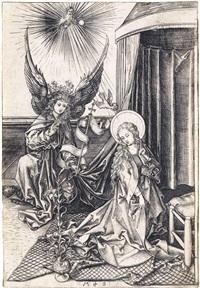 the annunciation by martin schongauer