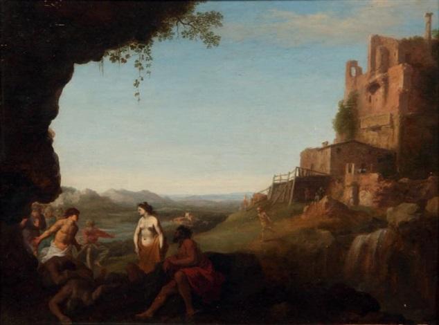 paysage classique by cornelis van poelenburgh