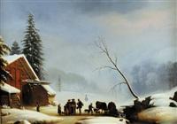paysage du valais by charles joseph auriol