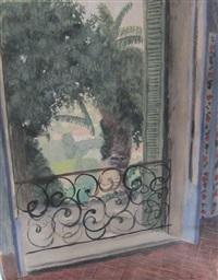 fenêtre sur la campagne et personnage (recto-verso) by francis smith