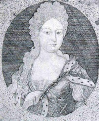 portrait of queen caroline of brandenberg-anspach, wife of george ii by matthew buchinger