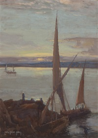 sailboats by carl oscar borg