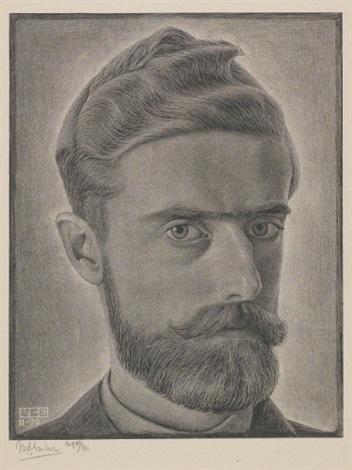 escher self portrait by m c escher