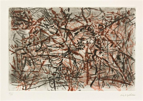 abtract composition by jean paul riopelle
