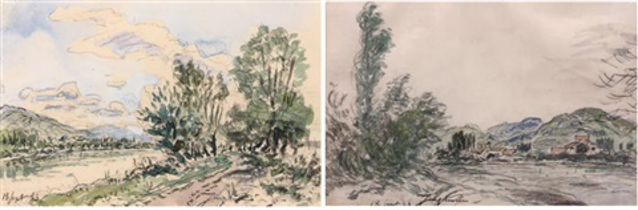 paysage de lisère recto verso by johan barthold jongkind
