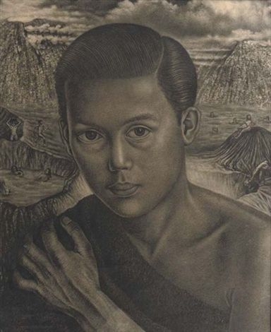 portrait of an indonesian boy by charles sayers