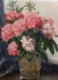 flowers in a vase by collier smithers