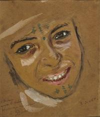jeune algérienne by alphonse etienne dinet