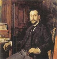portrait d'homme à sa table de travail by tito lessi
