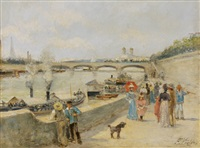 along the seine by f. vogler