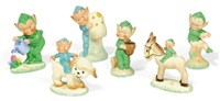boo boo figures (sest of 6) by mabel lucie attwell