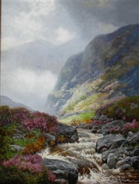 a glen in autumn by george melvin rennie